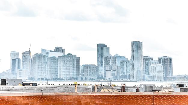 Koncepcja panoramę miasta. new jersey, stany zjednoczone