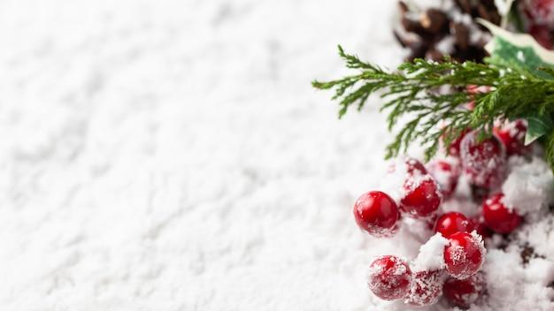 Koncepcja piękny śnieg boże narodzenie