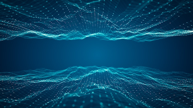 Koncepcja połączenia technologii cyfrowych dużych zbiorów danych.