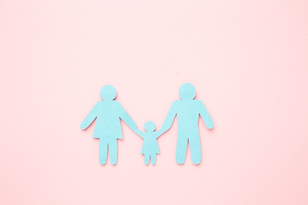 Koncepcja postać rodziny z dzieckiem
