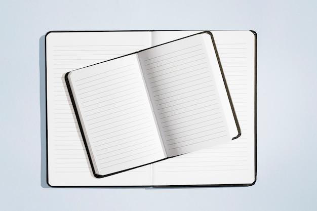 Koncepcja projektowa widok z góry notebooków