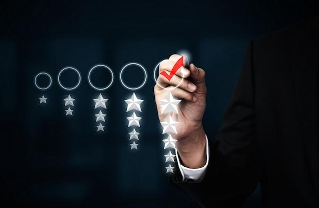 Koncepcja przeglądu opinii zwrotnych dotyczących zadowolenia klientów.