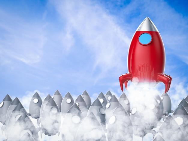Koncepcja przywództwa z uruchomieniem czerwonego promu kosmicznego