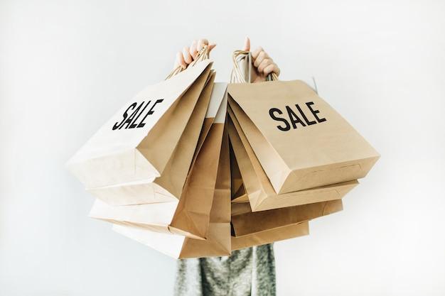 Koncepcja rabatu sprzedaży w czarny piątek
