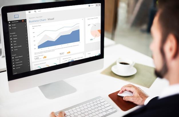 Koncepcja raportu graficznego wykresu biznesowego