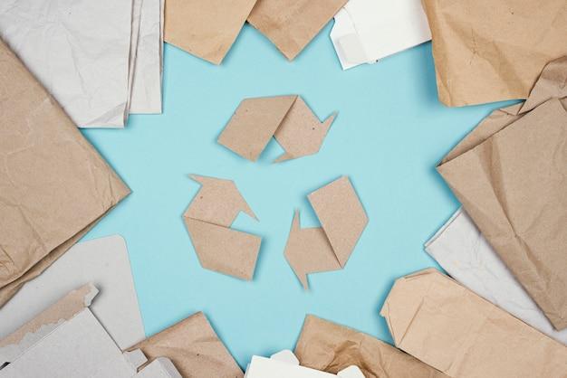 Koncepcja Recyklingu Płaskiego Lay Darmowe Zdjęcia