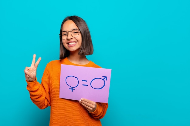 Koncepcja równości młodej kobiety łacińskiej