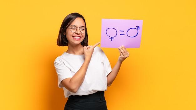 Koncepcja równouprawnienia płci młoda ładna kobieta
