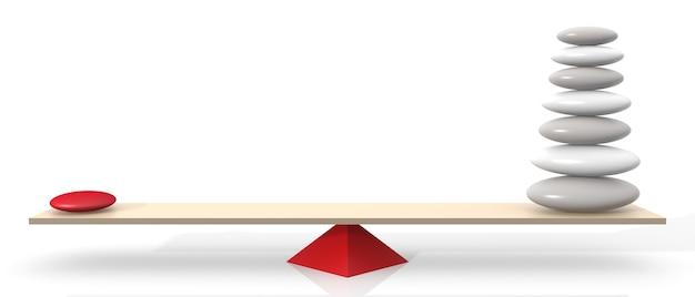 Koncepcja równowagi. ilustracja 3d