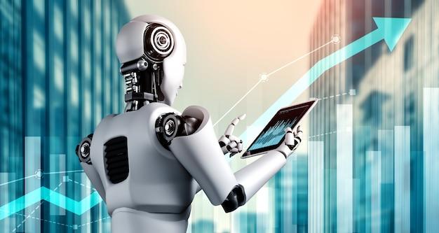 Koncepcja rozwoju firmy przy użyciu robota ai i technologii uczenia maszynowego