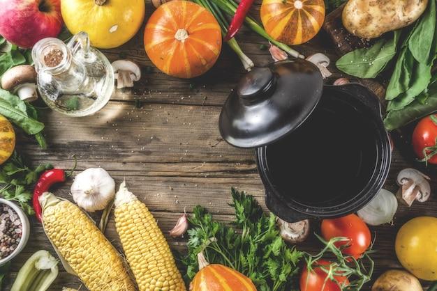 Koncepcja sezonowej zupy jesień