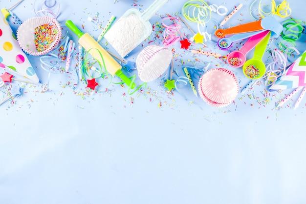 Koncepcja słodkiego wypieku na przyjęcie urodzinowe