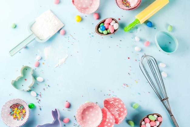Koncepcja słodkiego wypieku na wielkanoc