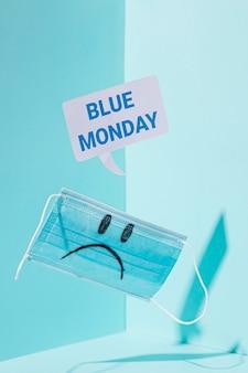 Koncepcja smutny niebieski poniedziałek