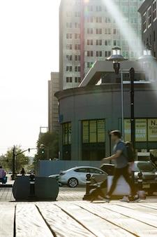 Koncepcja spisu sfotografowana w mieście