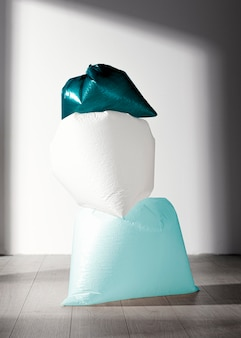 Koncepcja streszczenie plastikowej torbie
