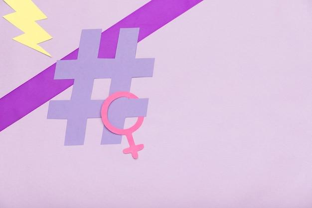 Koncepcja symbol kolorowy dzień kobiet