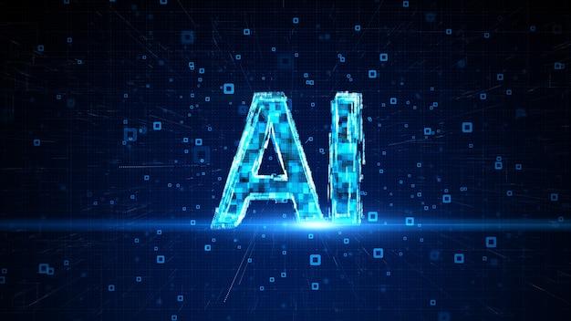 Koncepcja sztucznej inteligencji ai technologia przyszłości cyfrowa analiza danych