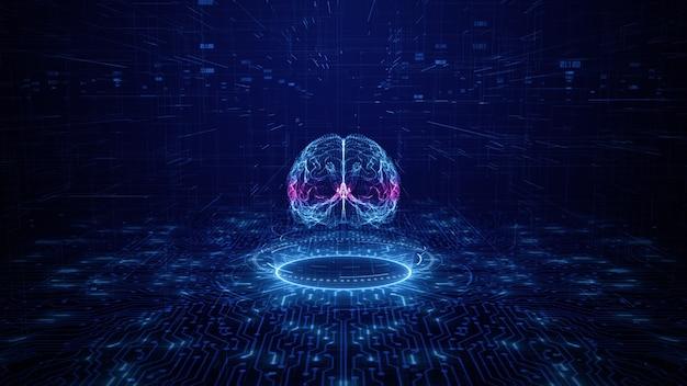 Koncepcja sztucznej inteligencji płytka drukowana mózgu