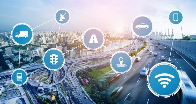 Koncepcja technologii inteligentnego transportu dla przyszłego ruchu samochodowego na drogach