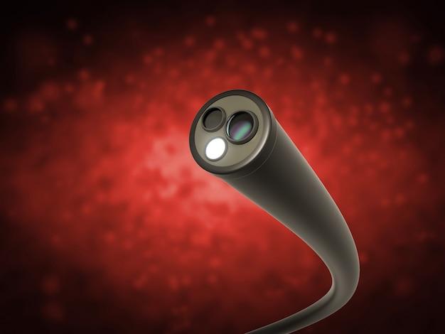 Koncepcja technologii kolonoskopii z endoskopem renderującym 3d wewnątrz jelita