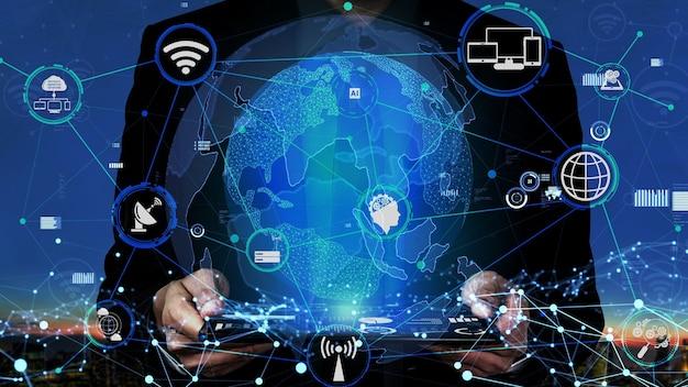 Koncepcja technologii komunikacji 5g sieci internetowej
