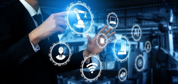 Koncepcja technologii przemysłu 4.0. inteligentna fabryka dla czwartej rewolucji przemysłowej
