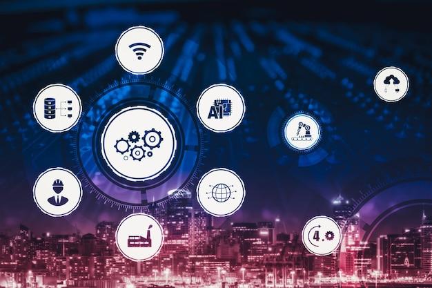 Koncepcja technologii przemysłu 4.0 - inteligentna fabryka dla czwartej rewolucji przemysłowej