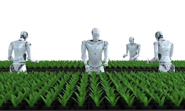Koncepcja technologii rolnictwa z cyborgami w szklarni