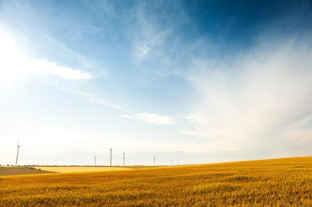 Koncepcja technologii zielonej energii elektrycznej turbiny