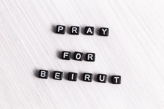 Koncepcja tragedii w bejrucie w libanie. módlcie się za bejrut.