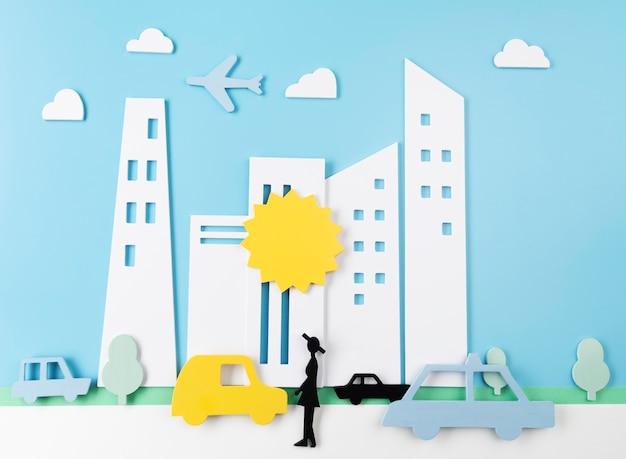 Koncepcja Transportu Miejskiego Z Pojazdami Premium Zdjęcia