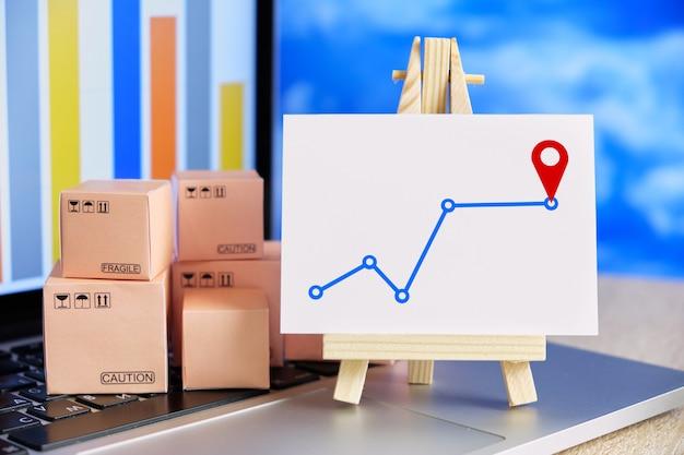 Koncepcja trasy dostawy towaru pod wskazany adres.