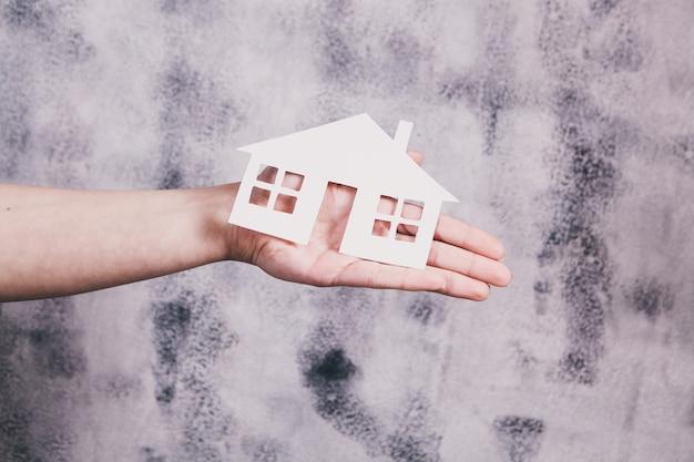 Koncepcja ubezpieczenia opieki i ochrony rodziny. model małego domu