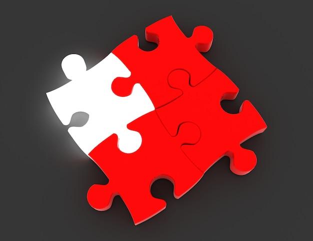 Koncepcja układanki 3d. koncepcja biznesowa. 3d renderowana ilustracja