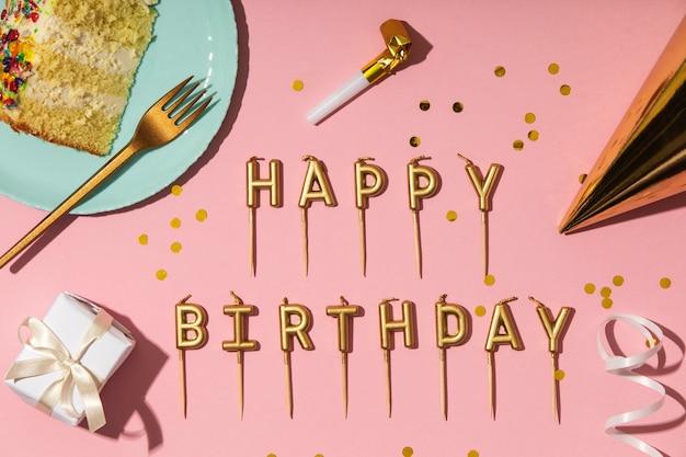 Koncepcja urodzin ze świecami
