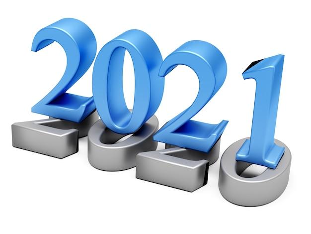 Koncepcja wakacje nowego roku 2021. numer koloru 2021 to rok 2020