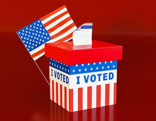Koncepcja wyborów w nas z amerykańską flagą