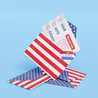 Koncepcja wyborów w nas z flagą ameryki