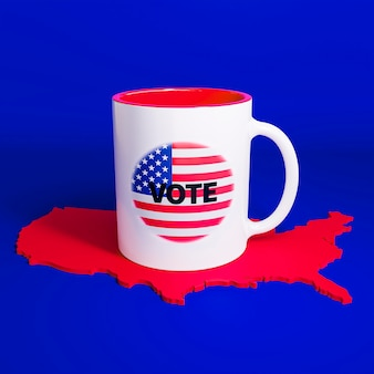 Koncepcja wyborów w usa z flagą ameryki