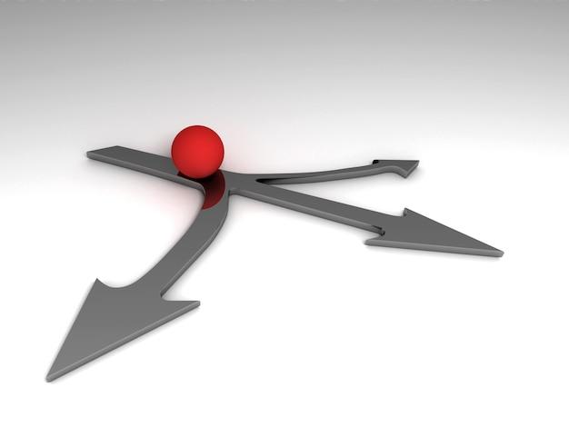 Koncepcja wyboru biznesowego. ilustracja renderowania 3d