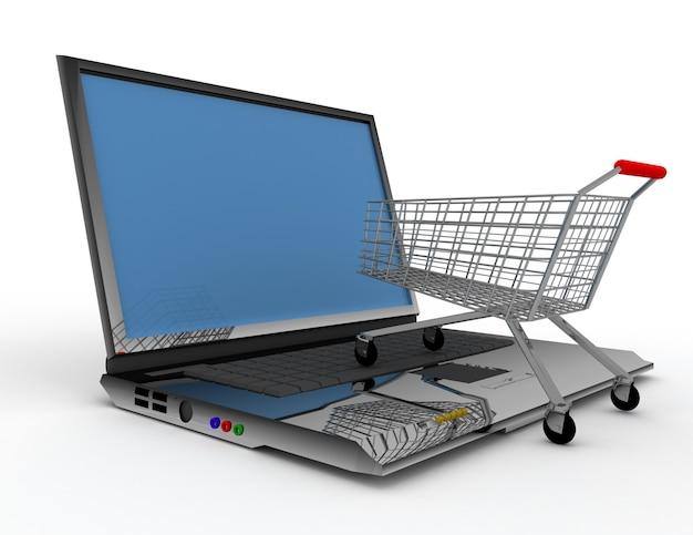 Koncepcja zakupów online 3d