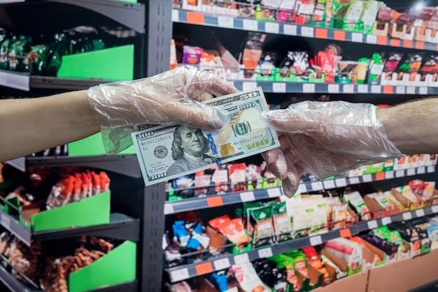 Koncepcja zakupów w supermarkecie.