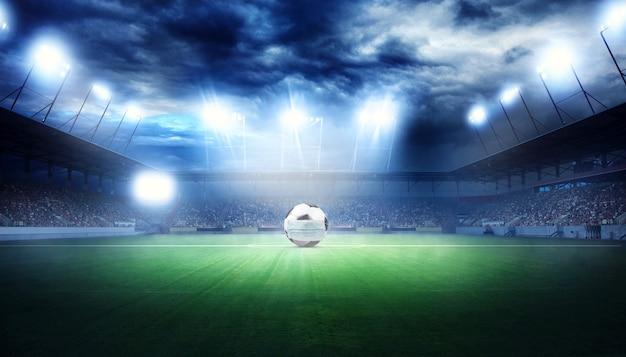 Koncepcja zdarzenia anulowania piłki nożnej euro. piłka z maską koronawirusa