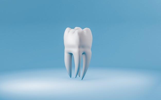 Koncepcja zdrowego zęba na niebiesko