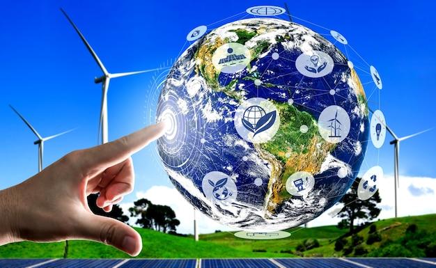Koncepcja zrównoważenia przez energię alternatywną.