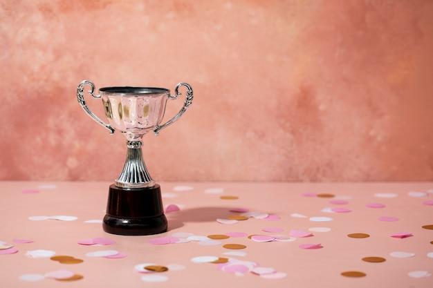 Koncepcja zwycięzcy ze srebrnym kubkiem
