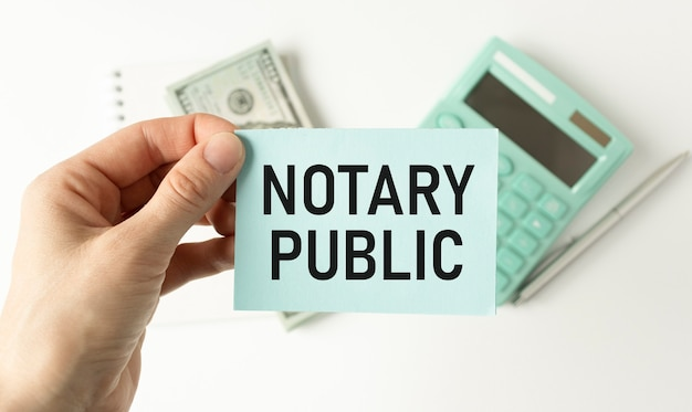 Koncepcyjne pismo odręczne przedstawiające notariusza. tekst zdjęcia firmowego legalność dokumentacja autoryzacja certyfikacja.