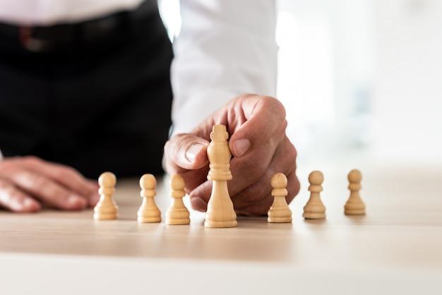 Koncepcyjny obraz przywództwa i zatrudnienia