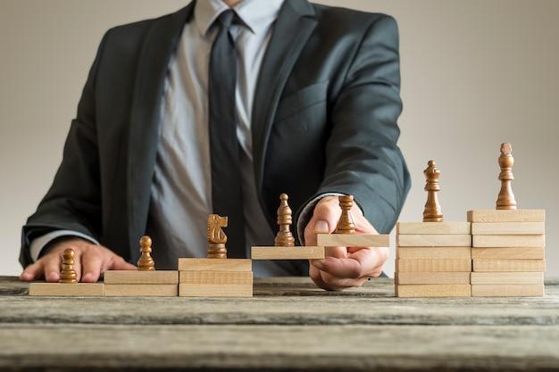 Koncepcyjny obraz zarządzania karierą